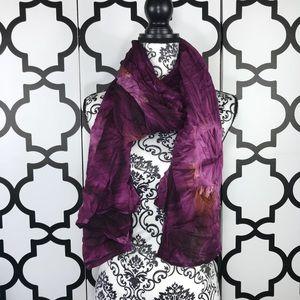 Purple Tie Dye Bluemar Scarf